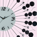 Decor White Metal Wall Clock