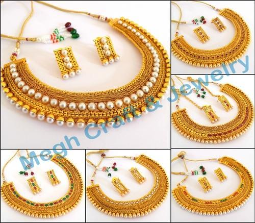 Indian Ethnic One Gram Gold Plated Bridal Jewellery