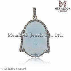 Buddha Gemstone Diamond Crystal Pendant