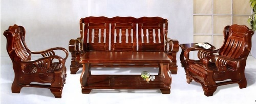Pure Teak Wood Stylish Sofa Set India Wood Factory
