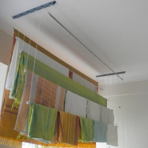 Ss Stain Less Steel Cloth Drying Ceiling Rope Hangers For