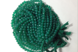 Green Onyx Cutting Round Balls Beads
