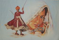 Rajasthani Dance Painting