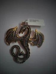 Dragon Shaped Victorian Pendant