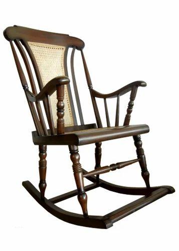 Cane Teak Wood Antique Rocking Chair
