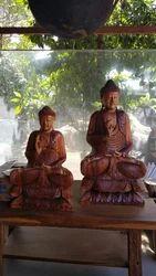 Sitting Buddha Pair