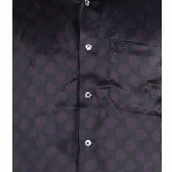 Scot Wilson Pure Silk Satin Printed Silk Shirt
