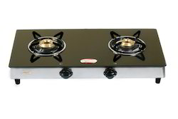 Stainless Steel 2 Burner Glass Gas Stove for Kitchen