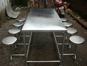 S. S. 304 Dining Table With 8 Setaed