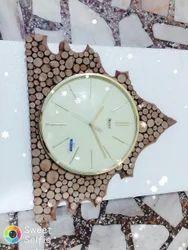 Tree Design Wooden Wall Clock