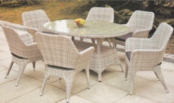 Sober Style Outdoor Wicker Dining Table Set