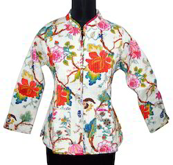Ladies Printed Quilted Jackets