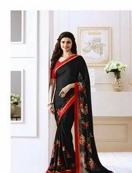 Georgette Border Casual Wear Sarees