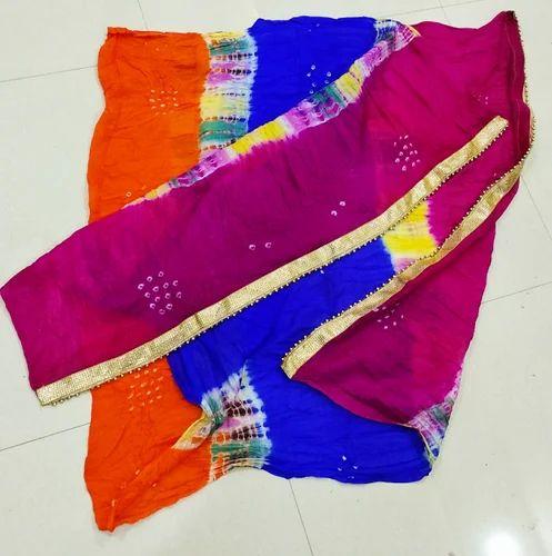 4e63b2cdfd Silk Gota Patti Printed Bandhani Dupatta, Rs 145 /piece, Khatushyam ...