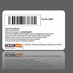 Plastic White Barcode Card