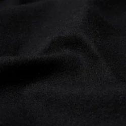 Wool Black Woolen Blazer Melton Fabric