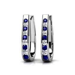 Sheetal Impex 0.32Tcw SI/FG Color  Real Natural Diamonds Stud 14Kt White Gold Gemstone Earring