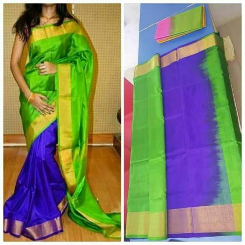 45ee53d1f4 Uppada Pure Soft Silk Saree, 6.3 M (with Blouse Piece), Rs 3000 ...