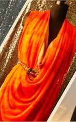 Womens Orange Dress
