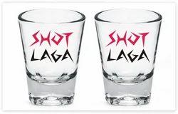 Set Of Two Shot Glasses 60 Ml Each