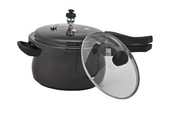 Black Hard Anodised Pressure Cooker, For Home