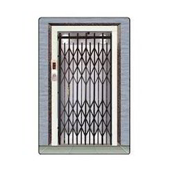 Black Stainless Steel Lift Collapsible Gate, For Offices