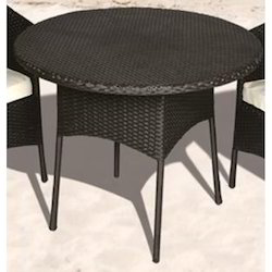 Wicker Round Dining Table
