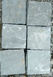 Natural Grey stone cobbles