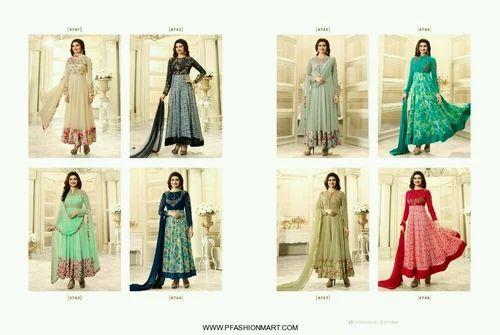 d9b13fd247 Vinay Fashion Georgette Anarkali Salwar Suits, Rs 1395 /piece | ID ...