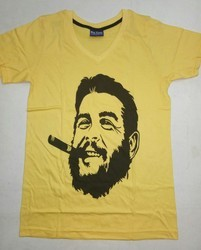 10 Colors Printed Men's V Neck T Shirts