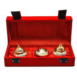 Silver Gold Plated Indian Tradition Sindoor Box