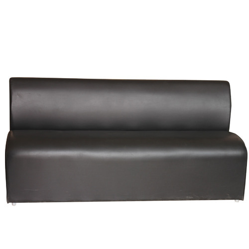 Black Leather Sofa Office: Black Leather Armless Sofa For Office, Dimension: 15 X 65