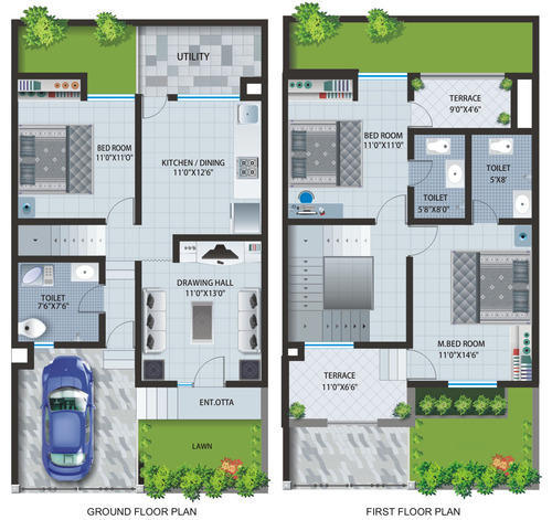 Row House Plan Services Service Provider From Mumbai