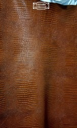 Embossed Print Leather