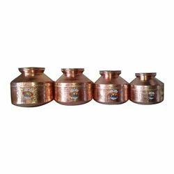 Hammered Copper Handa Ghara