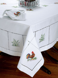 Embroidered Tablecloth, Size: 52x70, 60x80 cm