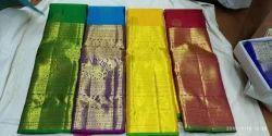 Pure Kanjivaram Silk Big Border Saree, Length: 6.3 m
