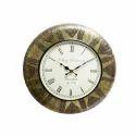 Wood Brass Wall Clock