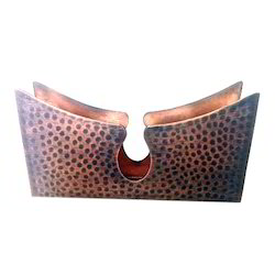 Smokey Finished Copper Hammered Imperial Napkin Stand