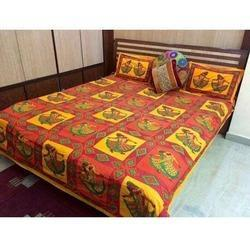 Kutch Work Bed Sheet, GSM: 250 300