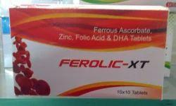 Ferrous Ascorbate Zinc Folic Acid And DHA Tablets