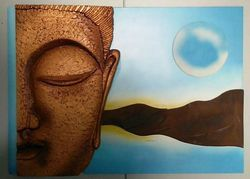 Wooden Buddha Wall Piece