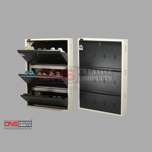 Wall Mounted Slim Metal Shoe Rack