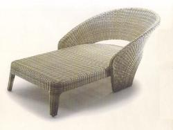 Wicker Poolside Lounger