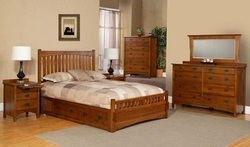 Brown Modern Wooden Double Bed, For Home