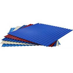 Red And Multicolor Color Coated FRP Sheet