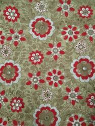 Mirror Work Cotton Embroidered Fabric