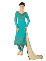 Turquoise Blue Exclusive Party Wear Georgette Suit