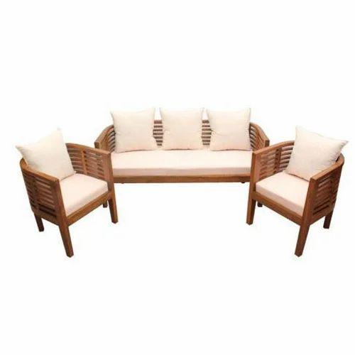 Wooden Frame Sofa Set