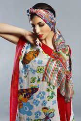 Printed Cotton Modal Shawls